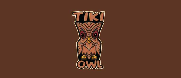tiki owl logo design 11