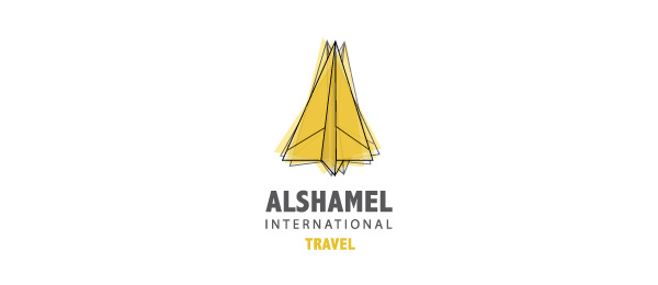 paper airplane logo travel 9