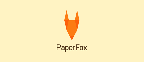 paper fox logo idea 5