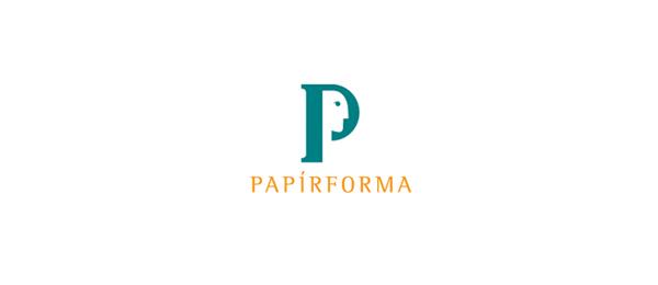 paper logo p face 35