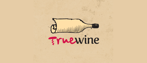 paper logo true wine 22