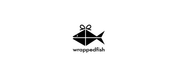 paper logo wrapped fish 29