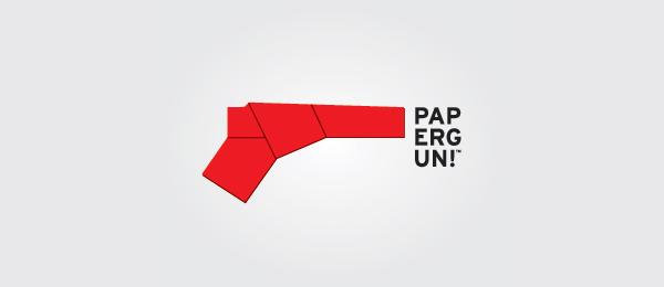 red paper gun logo design 47