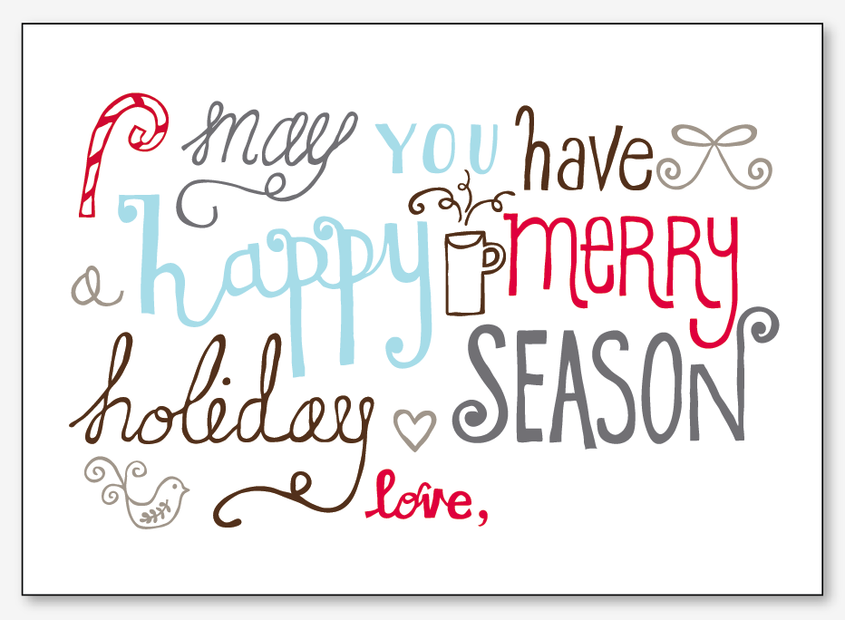 holiday card printable printable cards