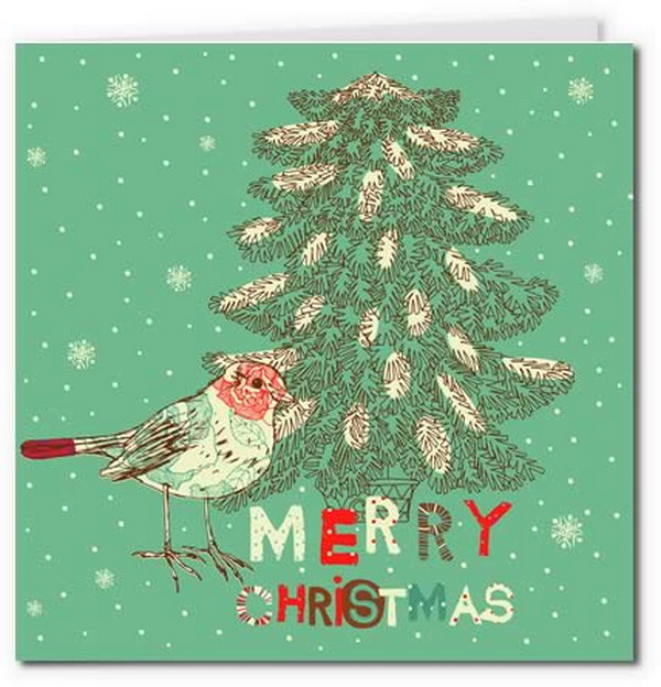 40+ Free Printable Christmas Cards - Hative