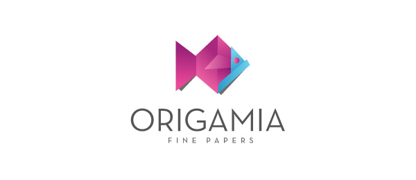 purple fish logo origamia 52