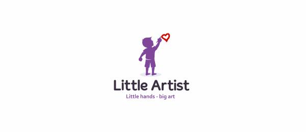 purple logo boy drawing heart 6