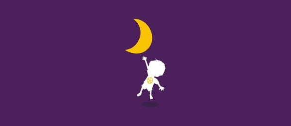 purple logo kid touching moon 22