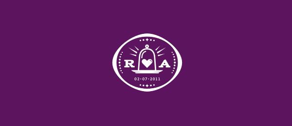 purple logo wedding crest 43
