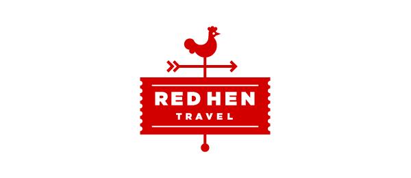 red hen travel logo 8