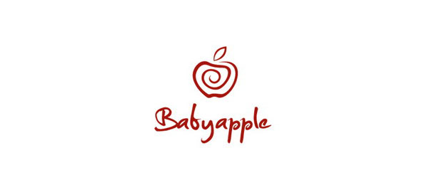 red logo baby apple 43