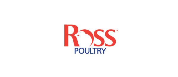 red logo chicken ross poultry 25