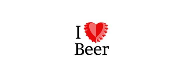 red logo i love beer 44