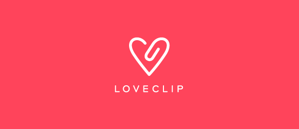 red logo love clip 45
