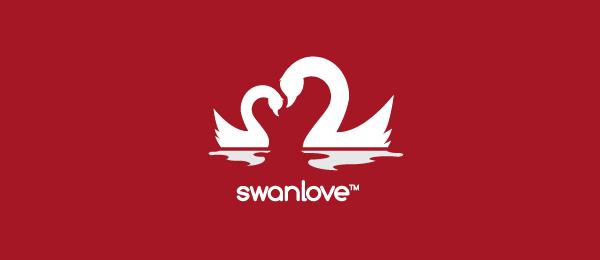 red logo swan love 46