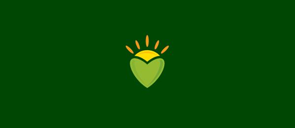sun heart logo idea 58