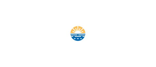 sunset logo sea scape 44