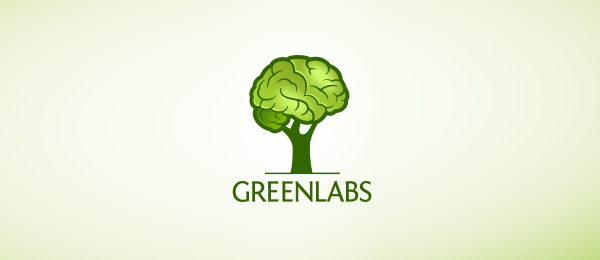 green brain tree logo 29