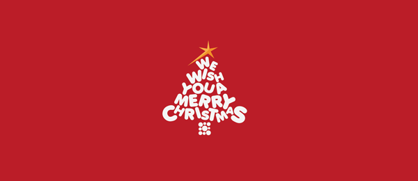 merry christmas tree logo 36