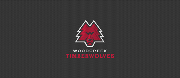 pine tree logo wolves 8