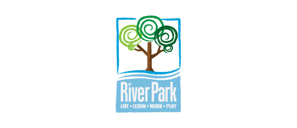 spiral tree logo river park 49