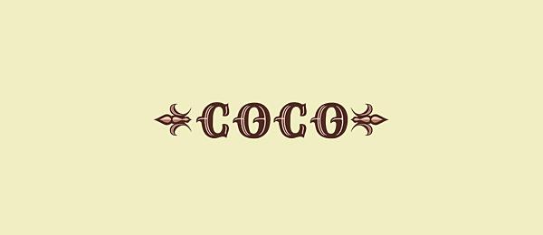 coco typographic logo 44
