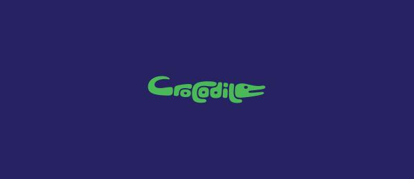 crocodile typography logo 51