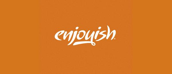 enjoyish typo logo idea 18