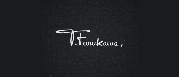 handwriting logo furukawa 15