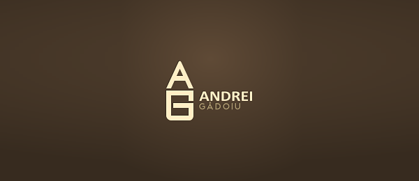 letter a g typography logo 52