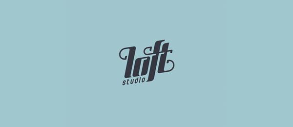 loft studio typographic logo 40