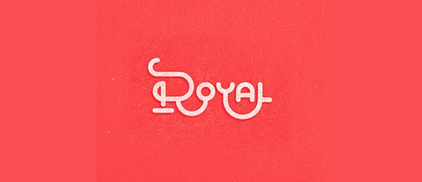 royal typographic logo 33