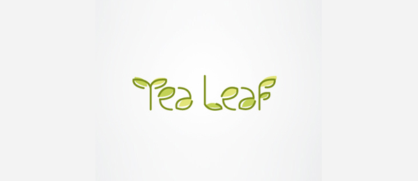 tea leaf typography logo 53