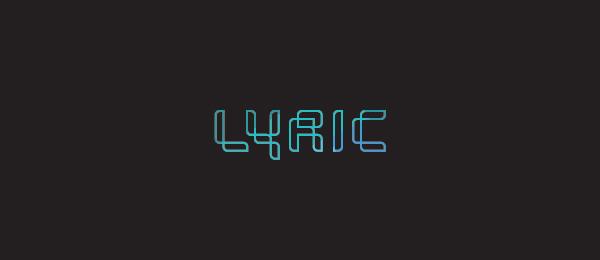 typo logo design computer 17