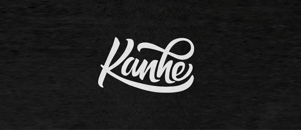 typo logo design kanhe 22