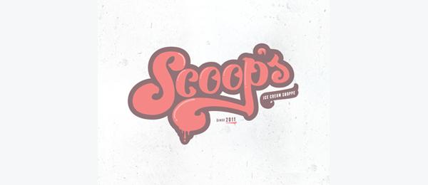 typo logo ice cream 26