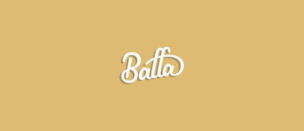 typographic logo baffa 36