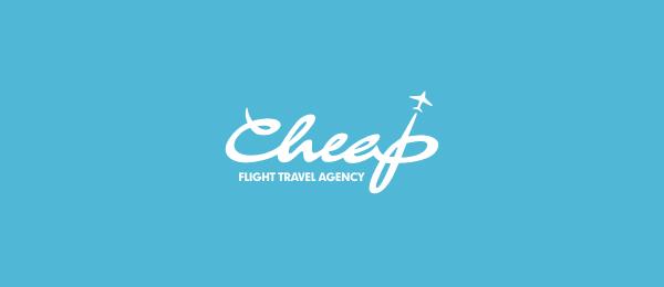 typographic logo flight travel 46