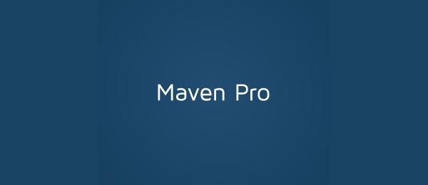 typographic logo maven pro 35