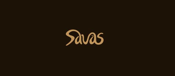 typographic logo savas 37