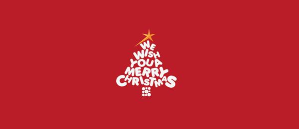 typography logo christmas tree 3