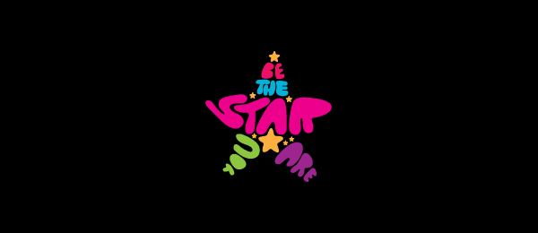 typography logo colorful star 2