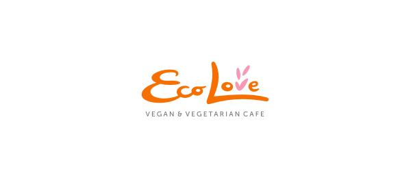 typography logo eco love cafe 54
