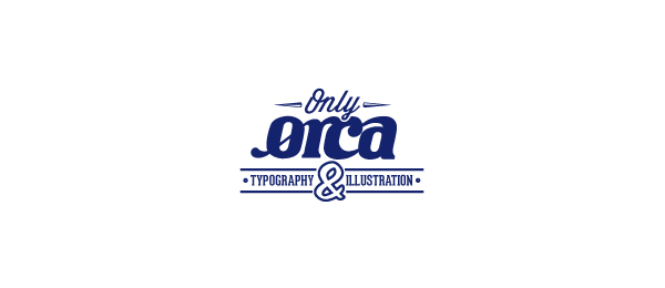 typography logo only orca 7