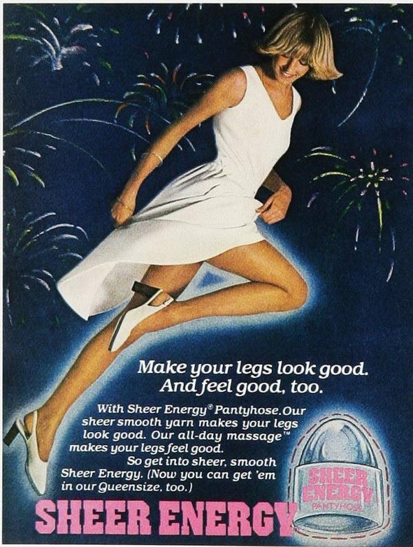 1977 sheer energy pantyhose 42