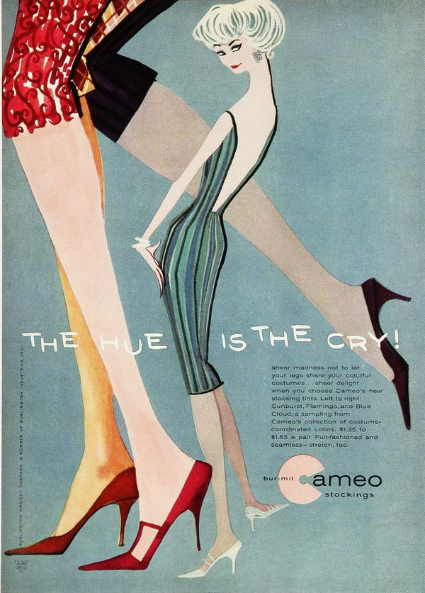 vintage beauty ad 1950s cameo stockings 35