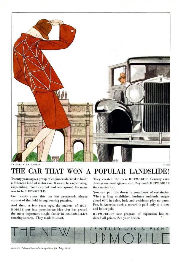 vintage car ad 1929 hupmobile 1