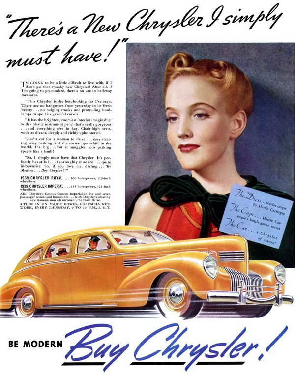 vintage car ad 1939 chrysler 2