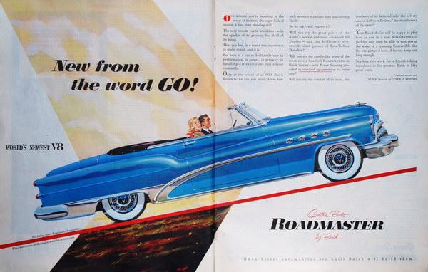 vintage car ad 1953 buick 7