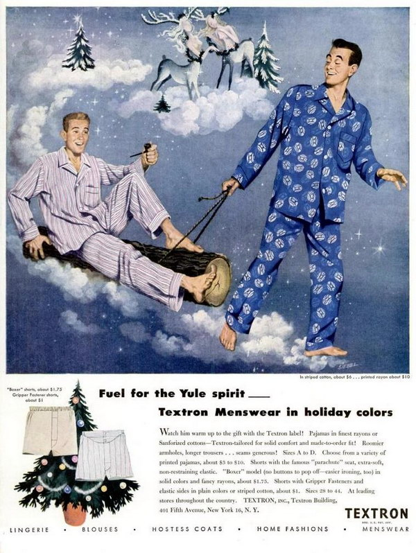 vintage funny ad 1947 textron menswear 45